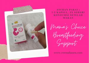 aturan pakai Mama's Choice Breastfeeding Support